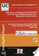 Análisis de la Evacuación en Trenes de Alta Velocidad mediante Modelado y Simulación Computacional