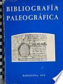 Bibliografía paleográfica