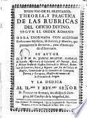 Buen uso de el breviario, theoria y práctica de los rubricas del oficio divino segun el orden romano