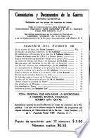 Comentarios y Documentos de la Guerra