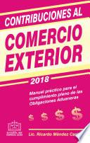 CONTRIBUCIONES AL COMERCIO EXTERIOR 2018
