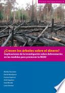 ¿Crecen los árboles sobre el dinero? : implicaciones de la investigación sobre deforestación en las medidas para promover la REDD