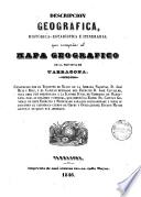 Descripcion geográfica, histórica estadística é itineraria que acompaña al Mapa geográfico de la provincia de Tarragona