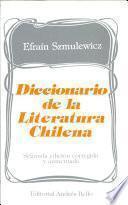 Diccionario de la Literatura Chilena