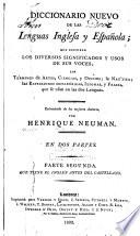 Diccionario nuevo de las lenguas inglesa y española