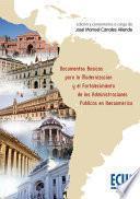 Documentos básicos para la modernización y el fortalecimiento de las administraciones públicas en Iberoamérica