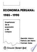 Economía peruana, 1985-1990