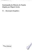 Enciclopedia de historia de España: Diccionario biografico