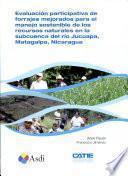 Evaluacion participativa de forrajes mejorados sostenible de los recursos naturales en la subcuenca del rio Jucuapa, Matagalpa, Nicaragua