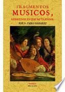 Fragmentos músicos, repartidos en quatro tratados
