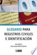 Glosario para registros civiles e identificación