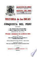 Historia de los incas y conquista del Perú