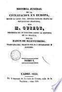 Historia general de la civilizacion en Europa, 1