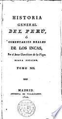 Historia general del Perú, o comentarios reales de los Incas
