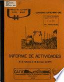 Informe de Actividades 15 de Febrero Al 15 de Mayo de 1979