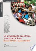 La investigación económica y social en el Perú