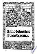Libro delos siete sabios de roma