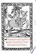 Los quatro libros del valeroso Cavellero D. Cirongilio di Tracia