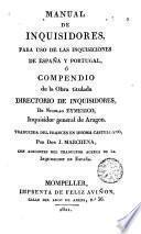 Manual de inquisidores para uso de las inquisiciones de España y Portugal
