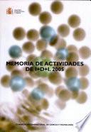 Memoria de actividades de I+D+I 2005