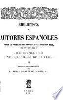 Obras completas del Inca Garcilaso de la Vega: Commentarios reales de los incas
