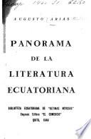 Panorama de la literatura ecuatoriana