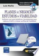 PLANES DE NEGOCIO Y ESTUDIOS DE VIABILIDAD