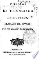 Poesías de Francisco de Figueroa, llamado El Divino