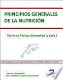 Principios generales de la nutrición