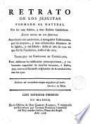 Retrato de los Jesuítas formado al natural... traducido del portugués