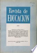 Revista de educación nº 111