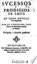 Sucessos y prodigios de amor, en ocho novelas exemplares