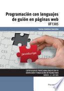 UF1305 - Programación con lenguajes de guión en páginas web