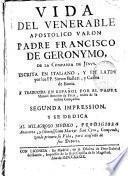 Vida del Venerable Padre Francisco de Geronymo